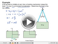 Play Dynamics Kinetics of Particles: Newton's Second Law Video