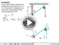 Play Dynamics Kinetics of Particles: Energy and Momentum Methods Video