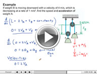 Play Dynamics Kinematics of Particles Video 1